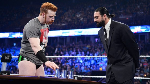 Sheamus and Damien Sandow interact during WWE Smackdown on Tuesday, May 28, 2013. PHOTO COURTESY OF WWE.COM
