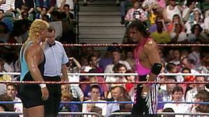 Bret Hart battles Curt Hennig at King of the Ring 1993.