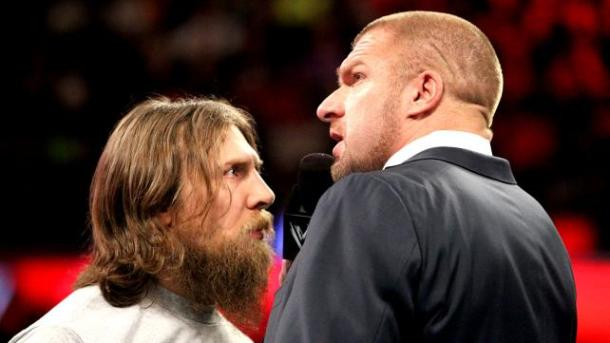 Daniel Bryan gets into the face of HHH on Monday Night RAW on Jan.27, 2014. PHOTO: WWE.com
