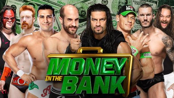The WWE Money in the Bank PPV goes live Sunday, June 29. PHOTO wwe.com