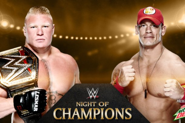 WWE Night of Champions PPV today at the Bridgestone Arena in Nashville, Tennessee. PHOTO: wwe.com