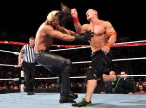 John Cena will take on Seth Rollins in a tables match on Sunday. Photo: WWE.com