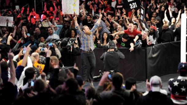 Daniel Bryan returns to WWE Raw to discuss his future on January 5, 2015.