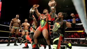 New Day (Rocks) will be defending their tag team Championships against the Dudley Boyz at Night of Champions on Sunday, September 20, 2015. PHOTO: WWE.com