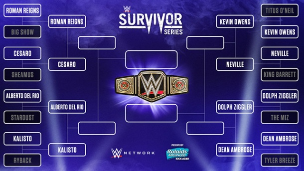 The bracket to determine a new WWE champion is already well underway. PHOTO: wwe.com
